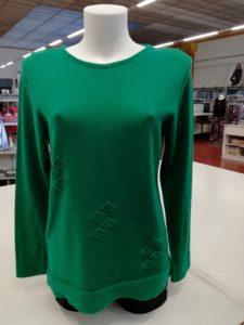 Ingrosso Maglie Donna girocollo colore verde