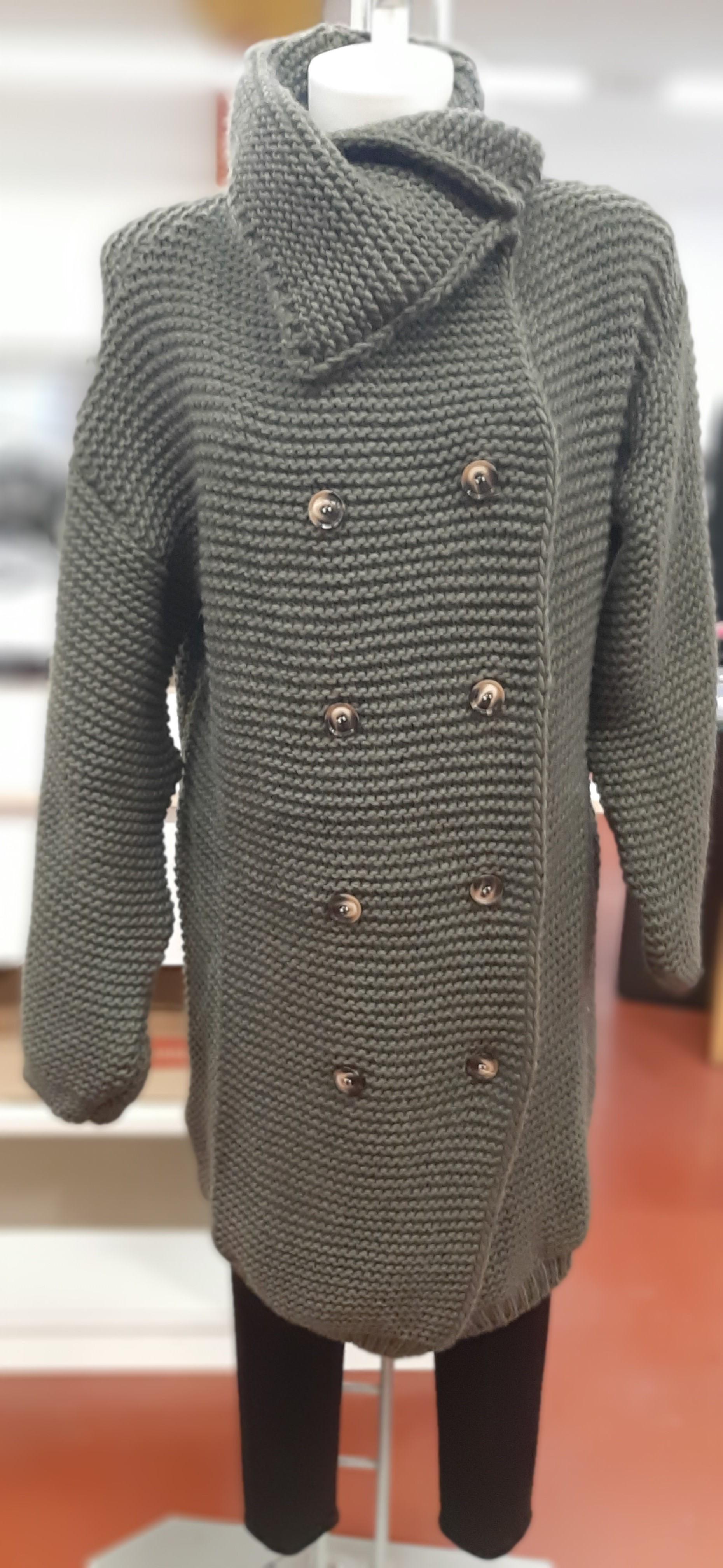 Cappotti Donna in maglia doppio petto