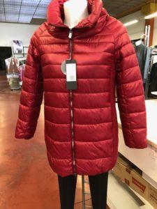 Giubbotti invernali per Donna lungo colore Rosso - ingrosso online